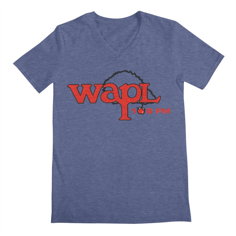 WAPL 80s 'Apple Tree' - Version 2 Men's Regular V-Neck by 105.7 WAPL Web Store