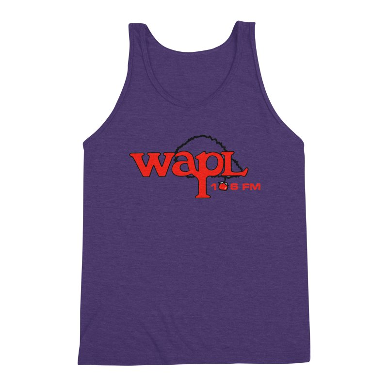 WAPL 80s 'Apple Tree' - Version 2 Men's Triblend Tank by 105.7 WAPL Web Store