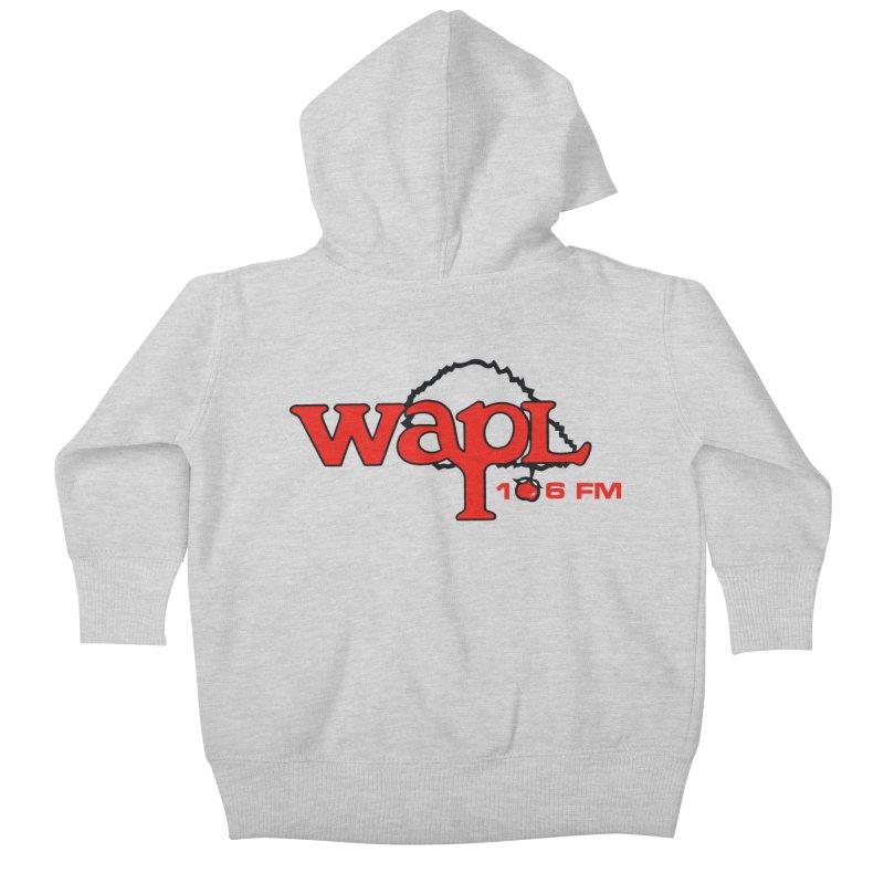WAPL 80s 'Apple Tree' - Version 2 Kids Baby Zip-Up Hoody by 105.7 WAPL Store