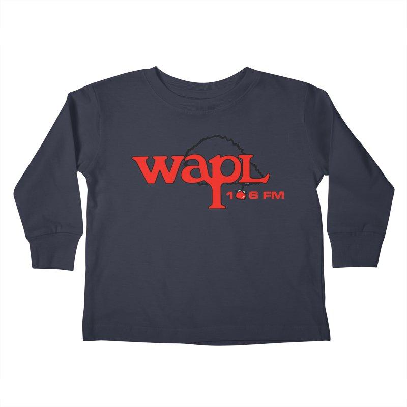 WAPL 80s 'Apple Tree' - Version 2 Kids Toddler Longsleeve T-Shirt by 105.7 WAPL Web Store