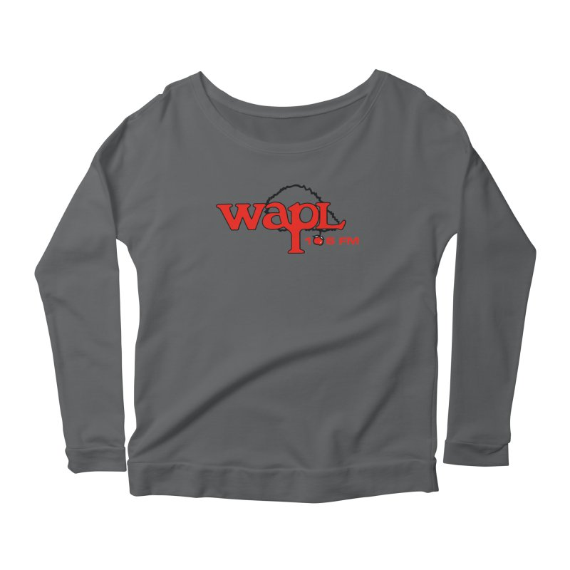 WAPL 80s 'Apple Tree' - Version 2 Women's Scoop Neck Longsleeve T-Shirt by 105.7 WAPL Web Store