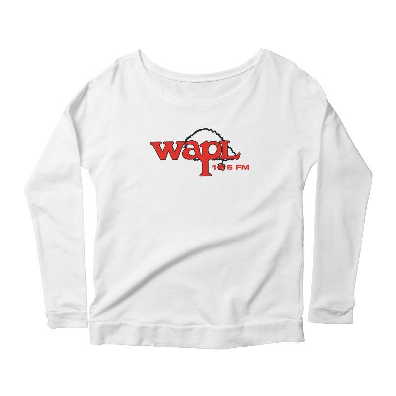 WAPL 80s 'Apple Tree' - Version 2 Women's Scoop Neck Longsleeve T-Shirt by 105.7 WAPL Web Store