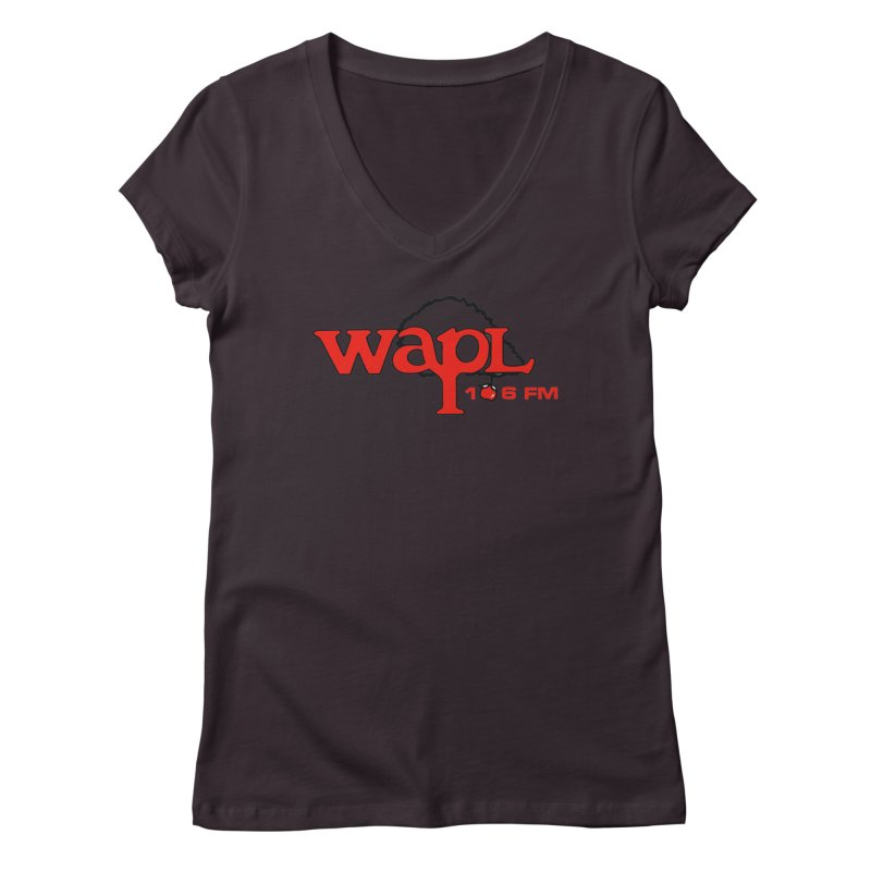 WAPL 80s 'Apple Tree' - Version 2 Women's Regular V-Neck by 105.7 WAPL Web Store