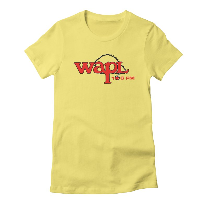 WAPL 80s 'Apple Tree' - Version 2 Women's Fitted T-Shirt by 105.7 WAPL Web Store