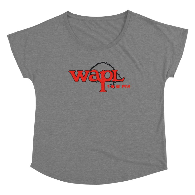 WAPL 80s 'Apple Tree' - Version 2 Women's Scoop Neck by 105.7 WAPL Store