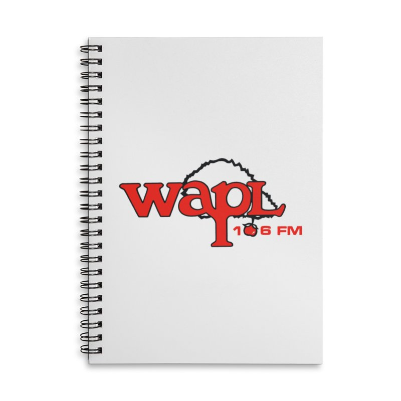 WAPL 80s 'Apple Tree' - Version 2 Accessories Lined Spiral Notebook by 105.7 WAPL Web Store