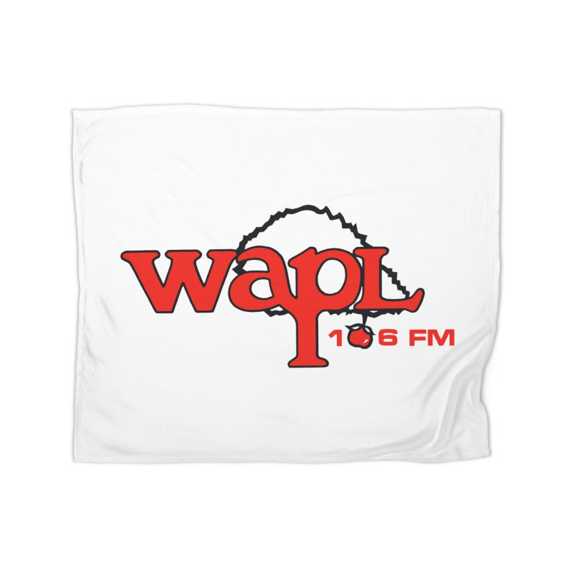 WAPL 80s 'Apple Tree' - Version 2 Home Fleece Blanket Blanket by 105.7 WAPL Web Store