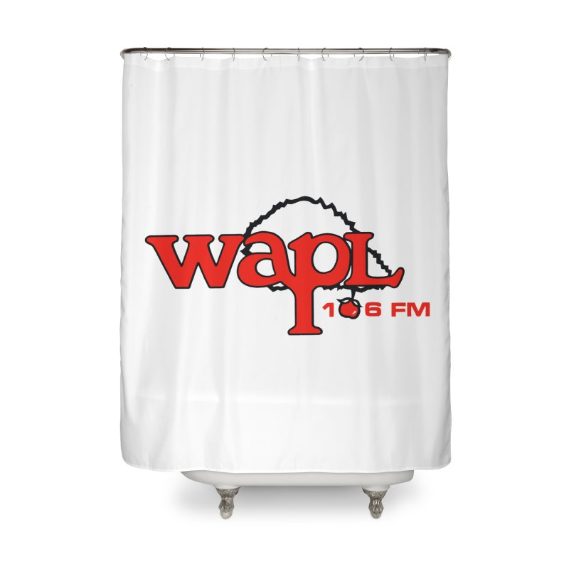 WAPL 80s 'Apple Tree' - Version 2 Home Shower Curtain by 105.7 WAPL Web Store