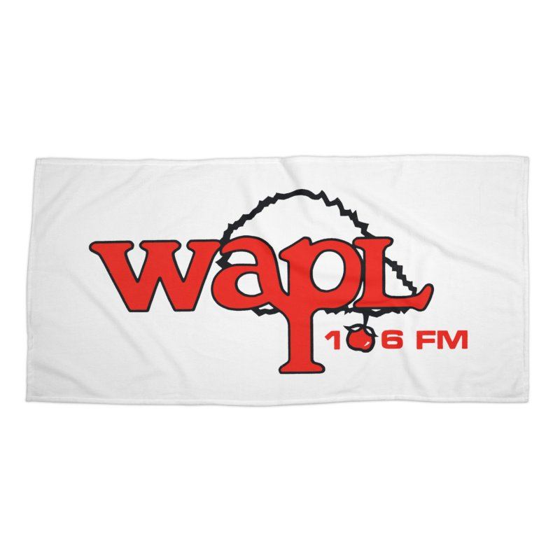 WAPL 80s 'Apple Tree' - Version 2 Accessories Beach Towel by 105.7 WAPL Web Store