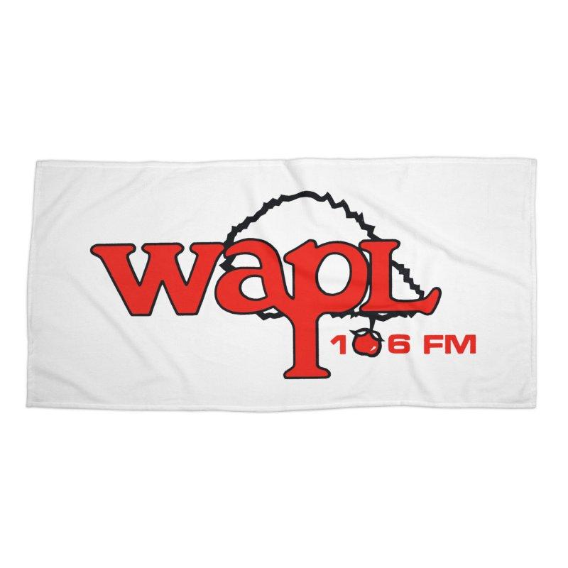 WAPL 80s 'Apple Tree' - Version 2 Accessories Beach Towel by 105.7 WAPL Store