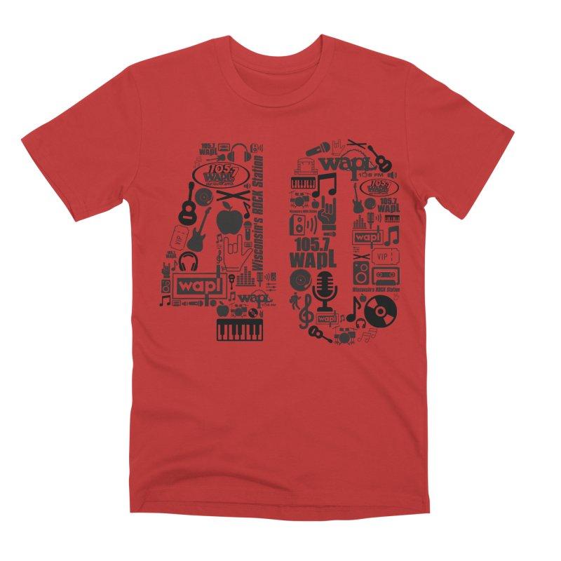 WAPL 40th Anniversary Men's Premium T-Shirt by 105.7 WAPL Web Store