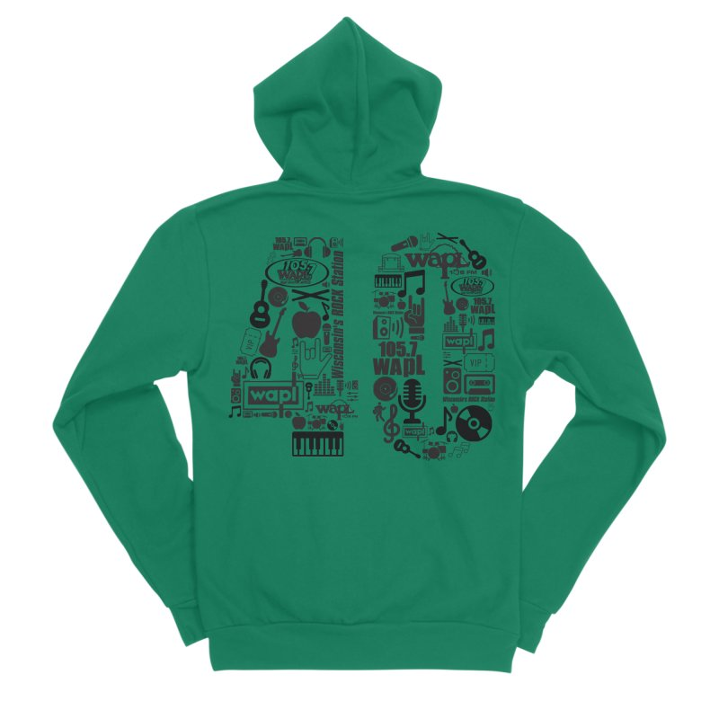 WAPL 40th Anniversary Men's Sponge Fleece Zip-Up Hoody by 105.7 WAPL Web Store