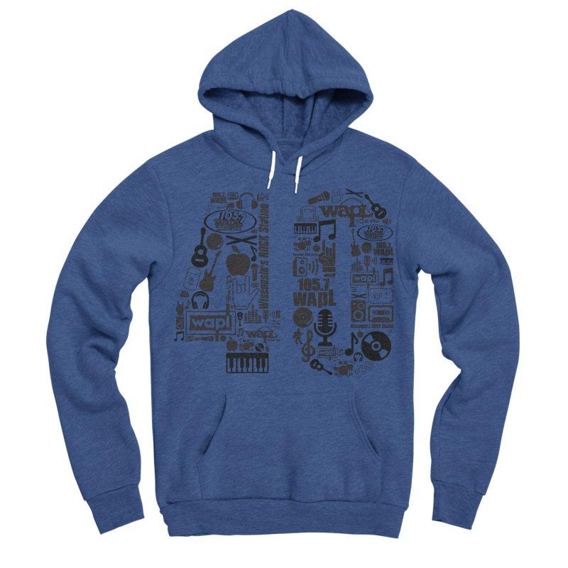 WAPL 40th Anniversary Men's Sponge Fleece Pullover Hoody by 105.7 WAPL Web Store