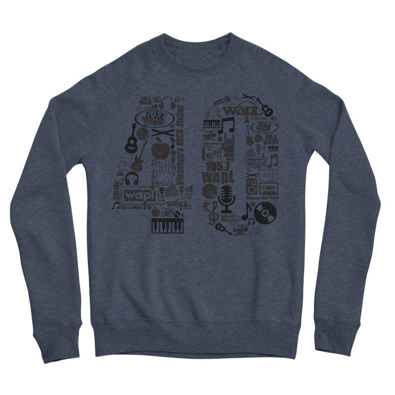 WAPL 40th Anniversary Men's Sponge Fleece Sweatshirt by 105.7 WAPL Web Store