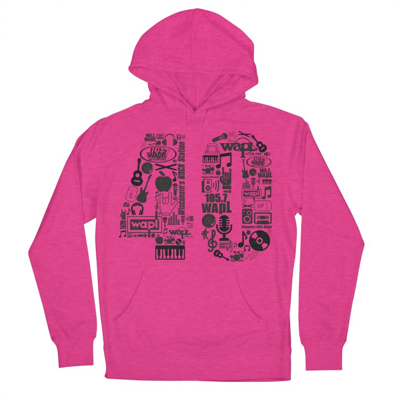 WAPL 40th Anniversary Women's French Terry Pullover Hoody by 105.7 WAPL Web Store
