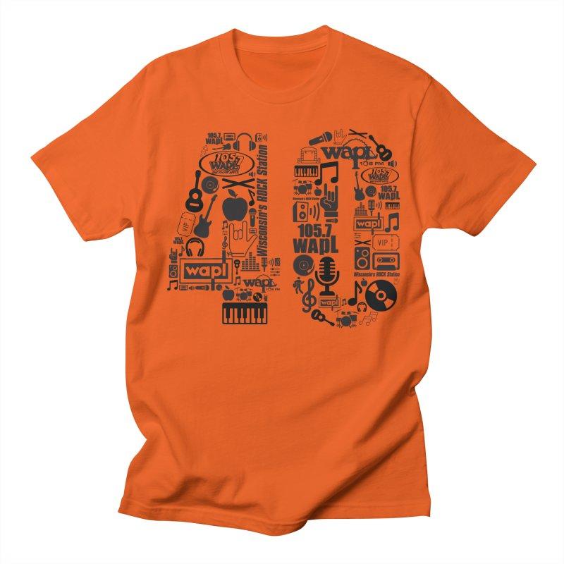 WAPL 40th Anniversary Men's Regular T-Shirt by 105.7 WAPL Web Store