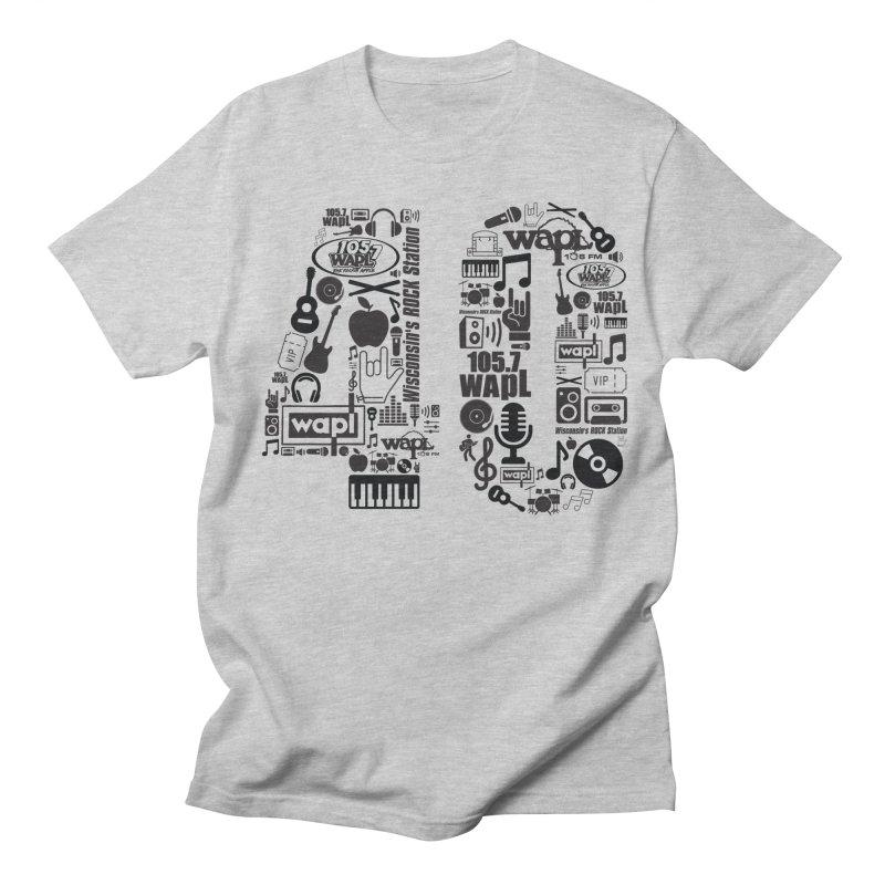 WAPL 40th Anniversary Women's Regular Unisex T-Shirt by 105.7 WAPL Web Store