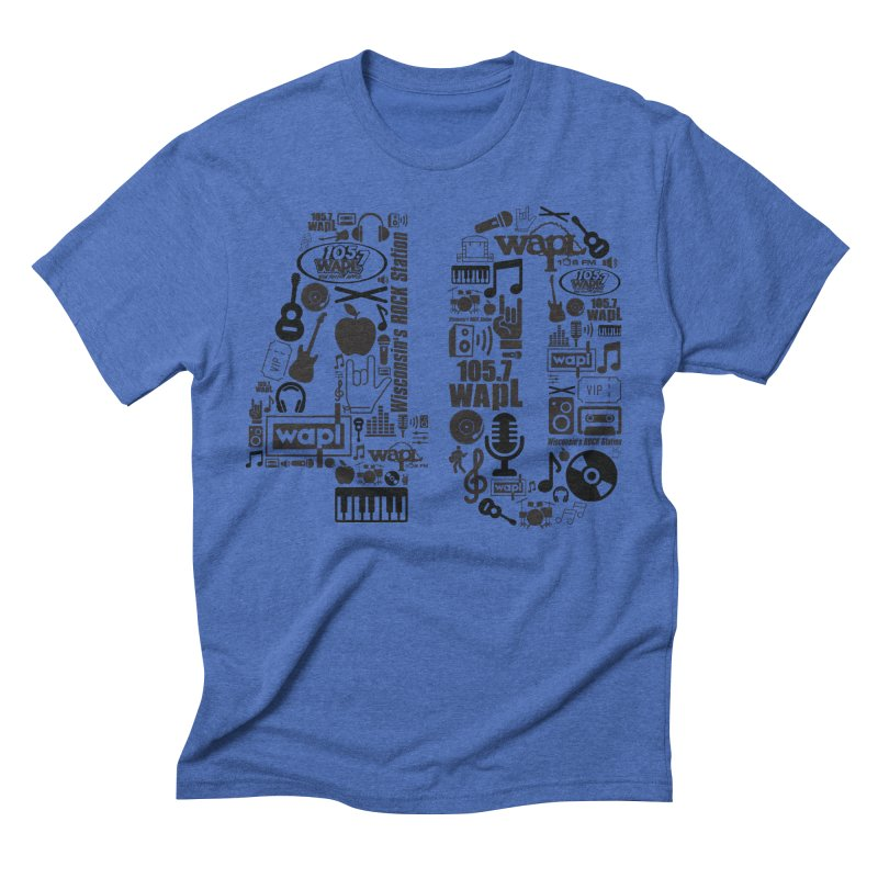 WAPL 40th Anniversary Men's Triblend T-Shirt by 105.7 WAPL Web Store