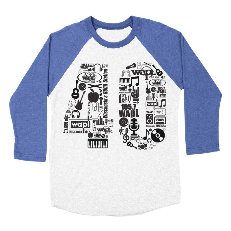 WAPL 40th Anniversary Men's Baseball Triblend Longsleeve T-Shirt by 105.7 WAPL Web Store