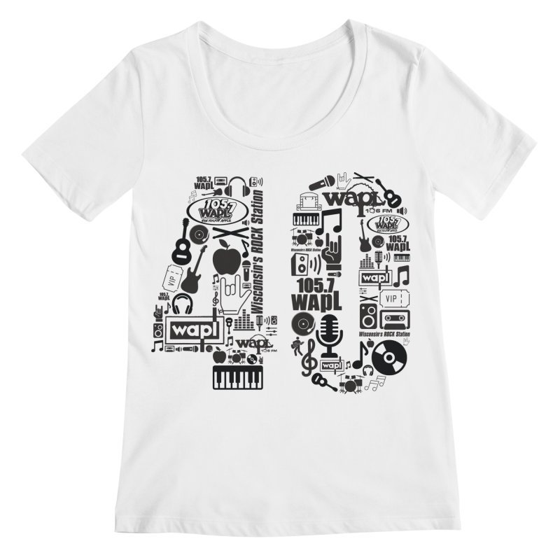 WAPL 40th Anniversary Women's Regular Scoop Neck by 105.7 WAPL Web Store