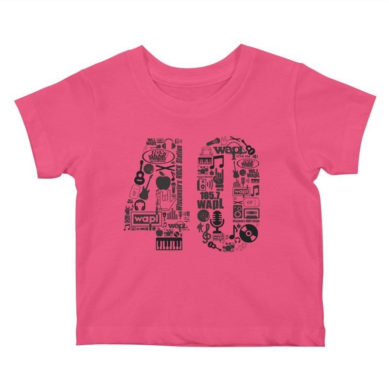 WAPL 40th Anniversary Kids Baby T-Shirt by 105.7 WAPL Web Store