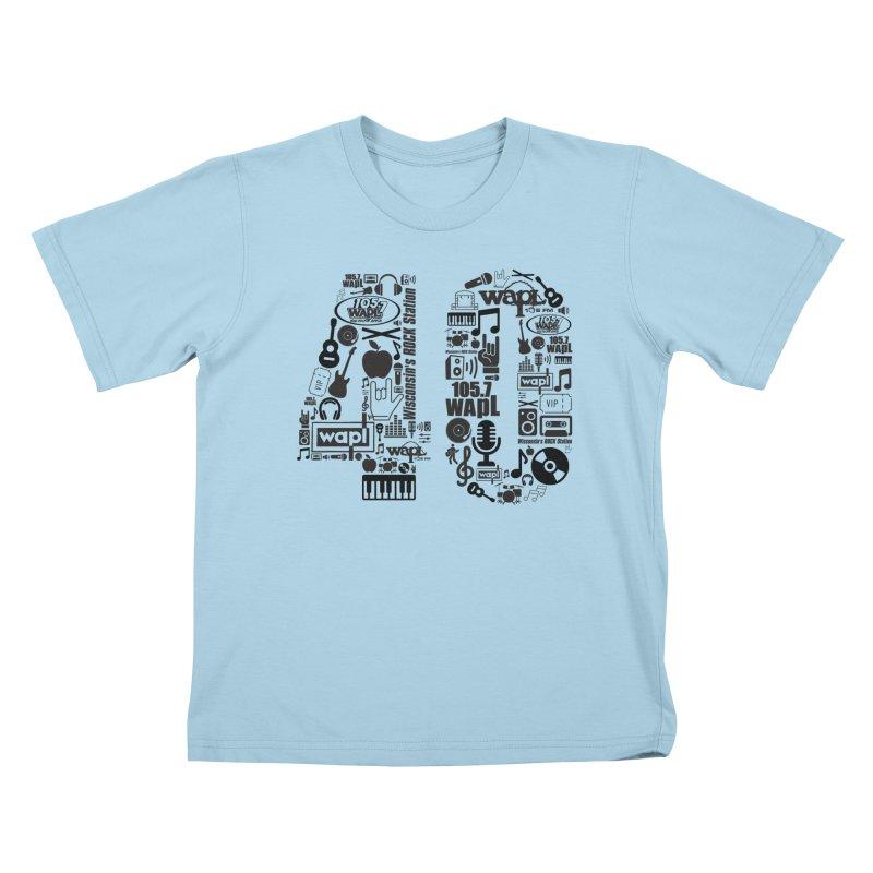 WAPL 40th Anniversary Kids T-Shirt by 105.7 WAPL Web Store