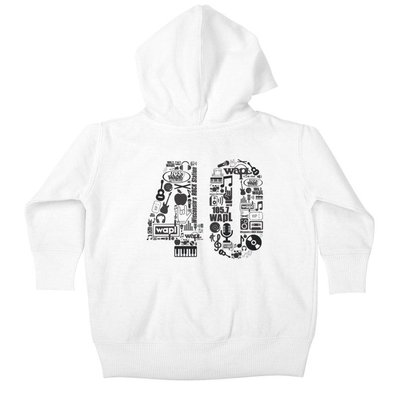 WAPL 40th Anniversary Kids Baby Zip-Up Hoody by 105.7 WAPL Web Store