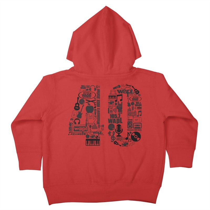 WAPL 40th Anniversary Kids Toddler Zip-Up Hoody by 105.7 WAPL Web Store