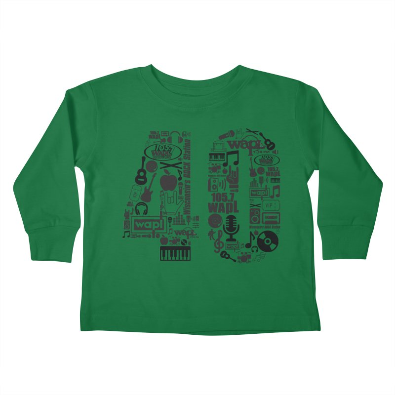 WAPL 40th Anniversary Kids Toddler Longsleeve T-Shirt by 105.7 WAPL Web Store