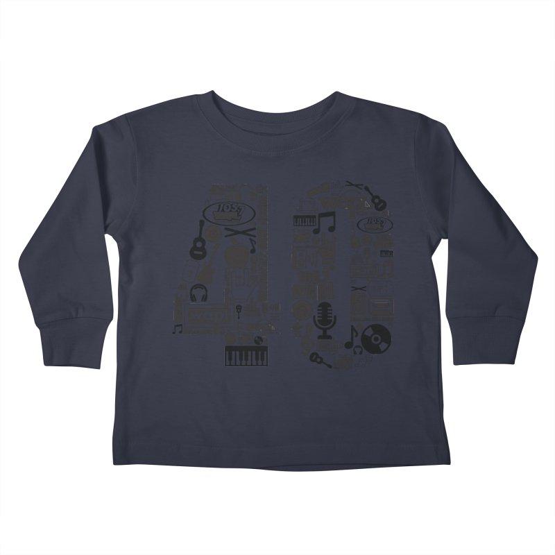 WAPL 40th Anniversary Kids Toddler Longsleeve T-Shirt by 105.7 WAPL Web Store