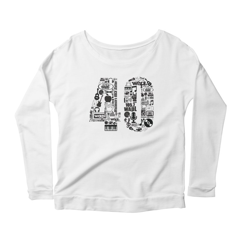 WAPL 40th Anniversary Women's Scoop Neck Longsleeve T-Shirt by 105.7 WAPL Web Store