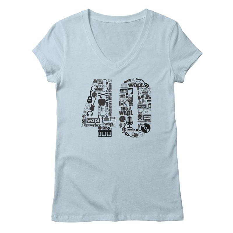 WAPL 40th Anniversary Women's Regular V-Neck by 105.7 WAPL Web Store