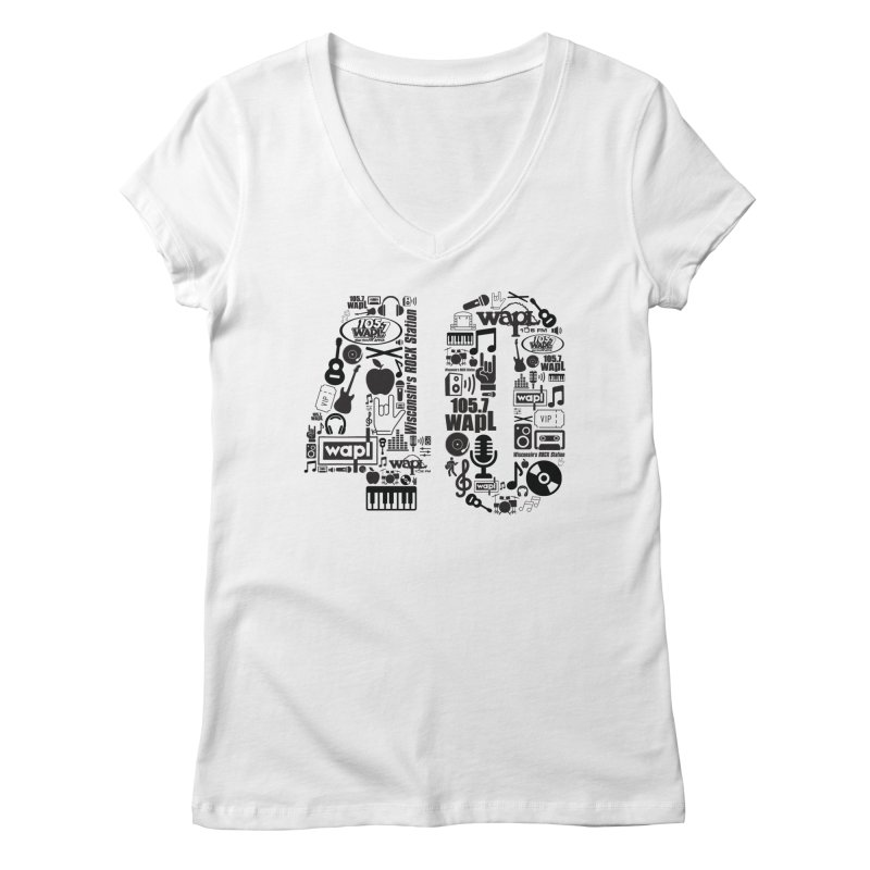 WAPL 40th Anniversary Women's Regular V-Neck by 105.7 WAPL Web Store