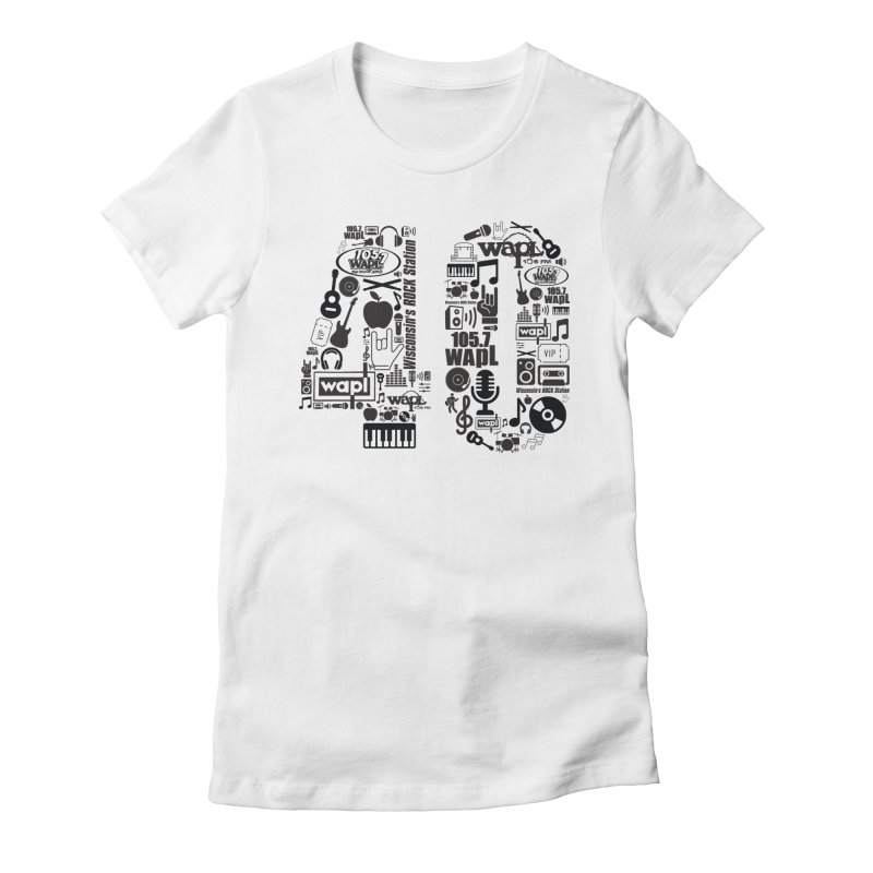 WAPL 40th Anniversary Women's Fitted T-Shirt by 105.7 WAPL Web Store