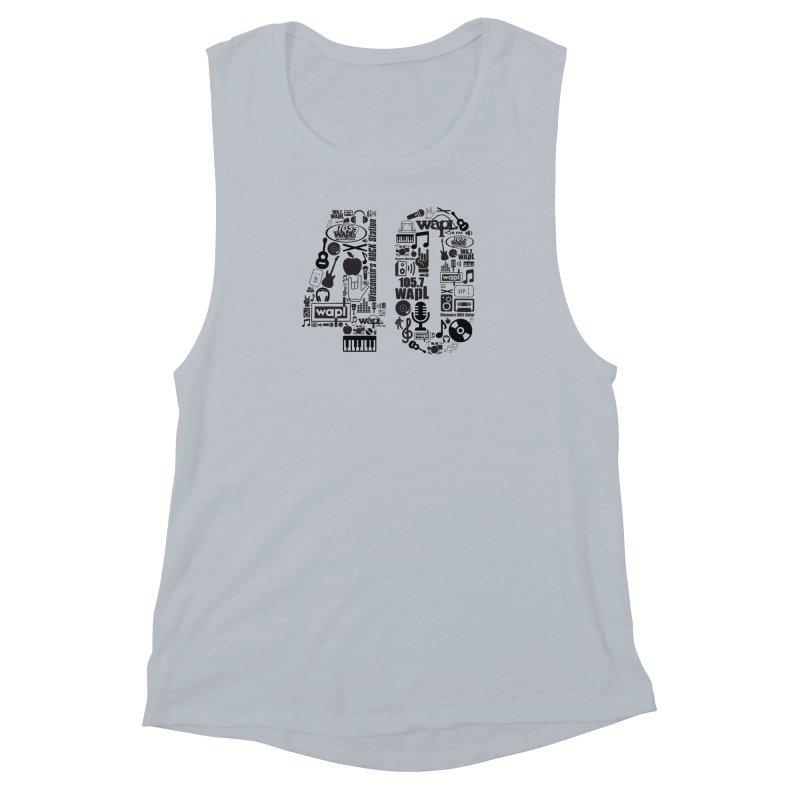 WAPL 40th Anniversary Women's Muscle Tank by 105.7 WAPL Web Store