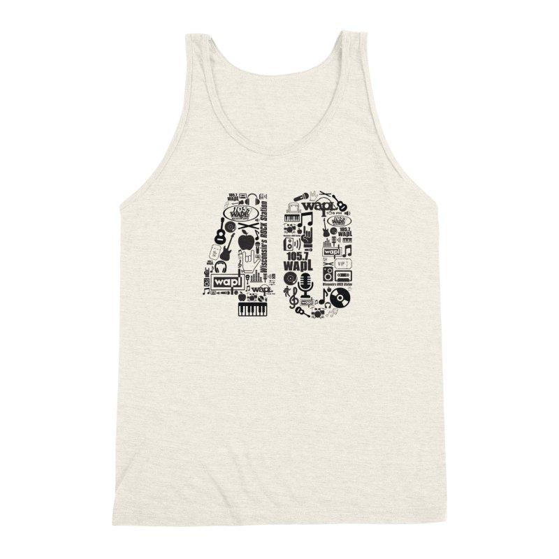 WAPL 40th Anniversary Men's Triblend Tank by 105.7 WAPL Web Store