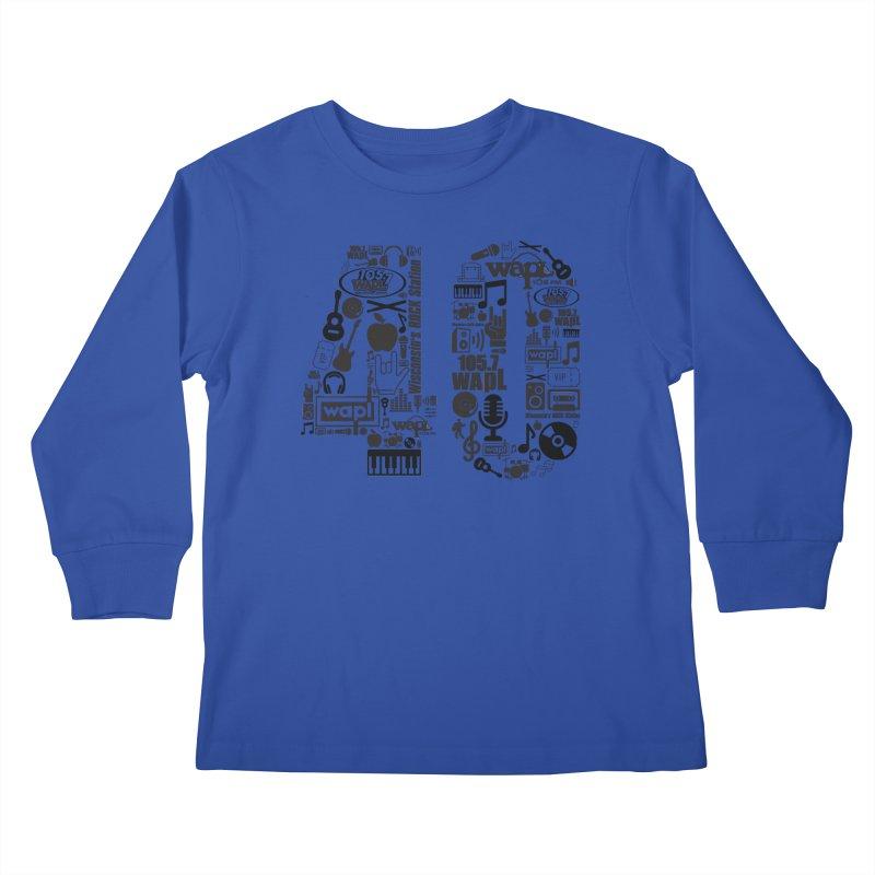 WAPL 40th Anniversary Kids Longsleeve T-Shirt by 105.7 WAPL Web Store