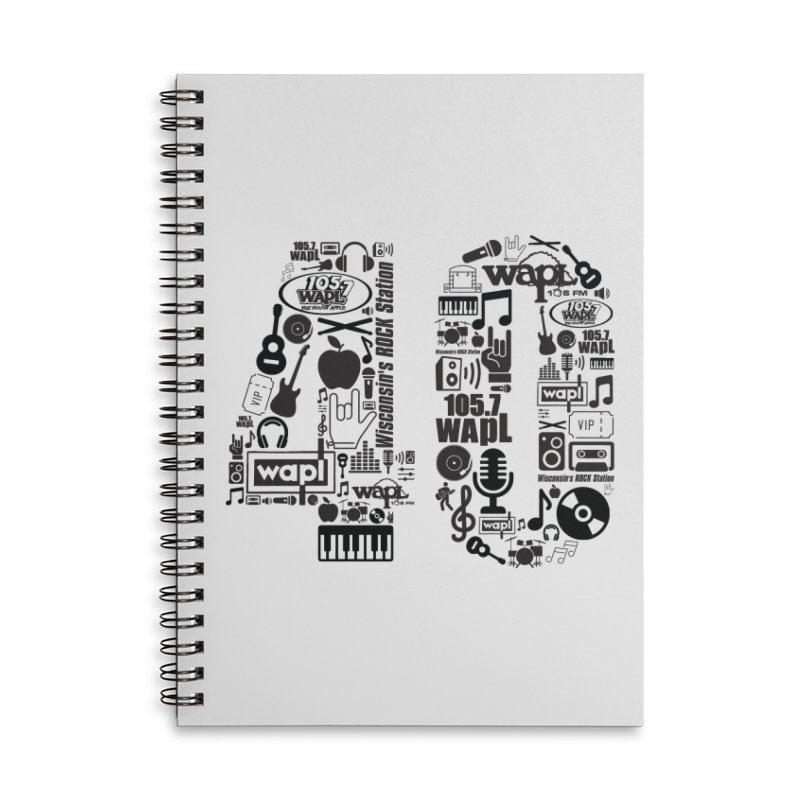 WAPL 40th Anniversary Accessories Lined Spiral Notebook by 105.7 WAPL Web Store