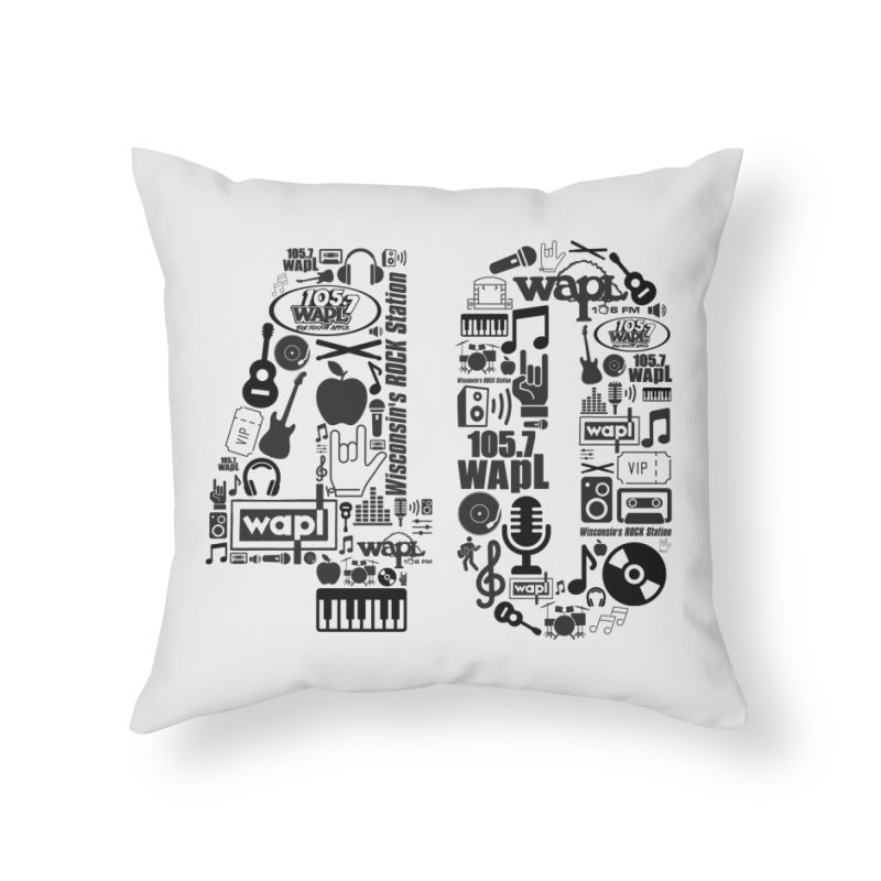 WAPL 40th Anniversary Home Throw Pillow by 105.7 WAPL Web Store