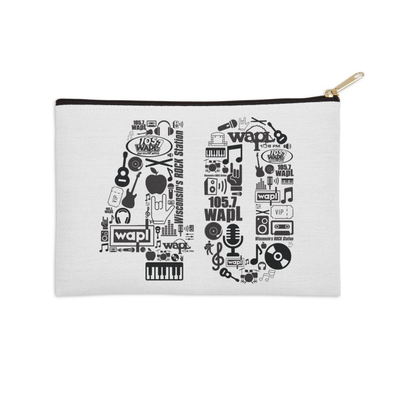 WAPL 40th Anniversary Accessories Zip Pouch by 105.7 WAPL Web Store
