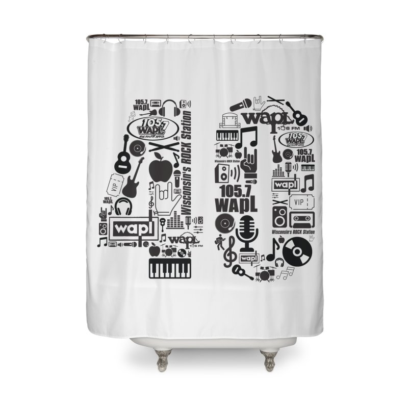 WAPL 40th Anniversary Home Shower Curtain by 105.7 WAPL Web Store