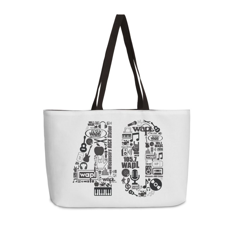 WAPL 40th Anniversary Accessories Weekender Bag Bag by 105.7 WAPL Web Store