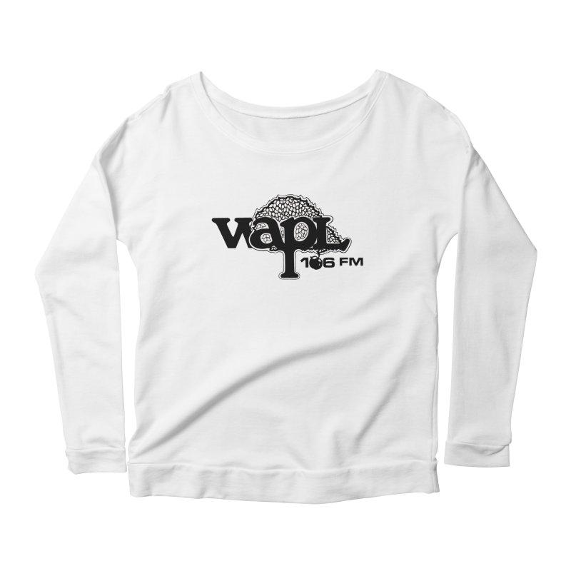 WAPL 80s 'Apple Tree' - Version 1 Women's Scoop Neck Longsleeve T-Shirt by 105.7 WAPL Web Store