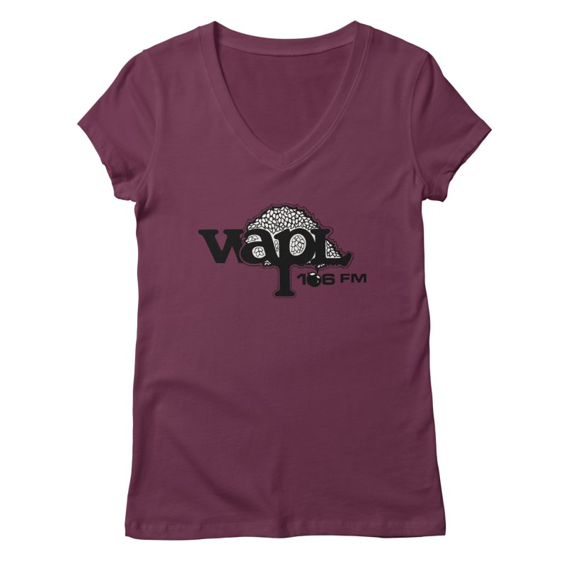 WAPL 80s 'Apple Tree' - Version 1 Women's Regular V-Neck by 105.7 WAPL Web Store