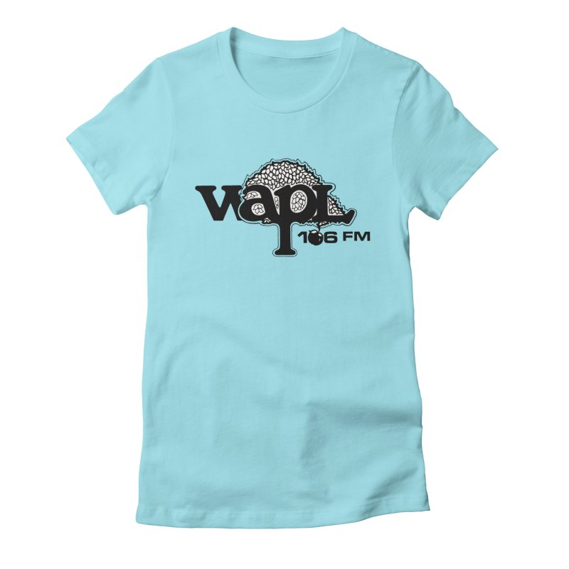 WAPL 80s 'Apple Tree' - Version 1 Women's Fitted T-Shirt by 105.7 WAPL Web Store