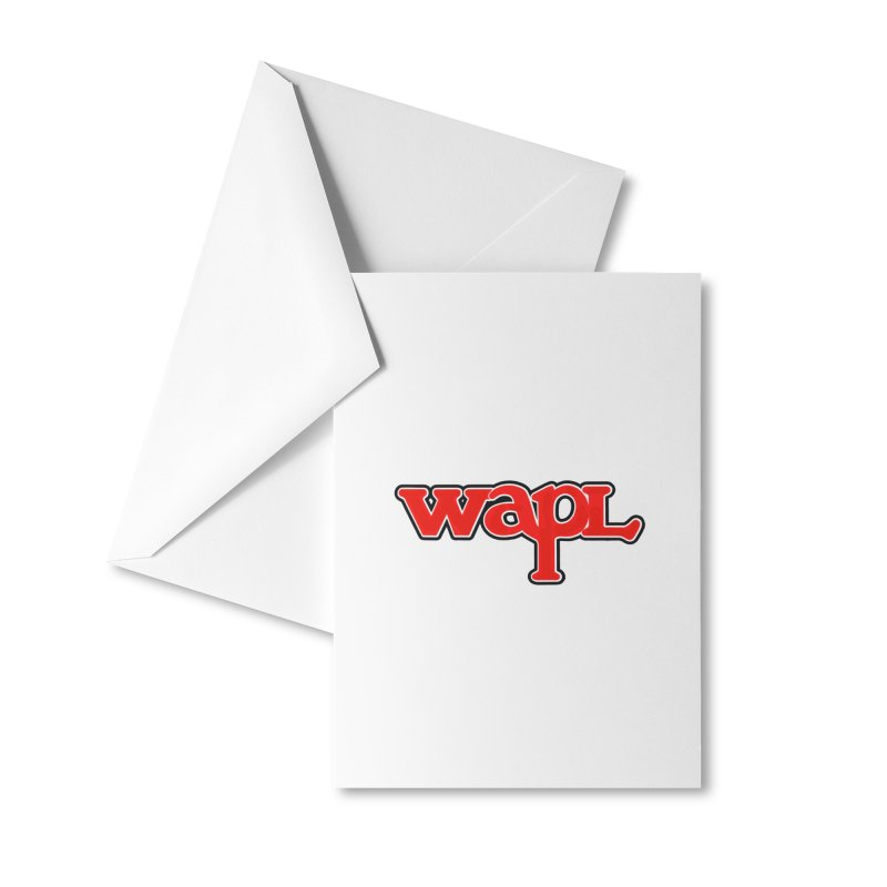 WAPL 80s [Call Letters Only] Accessories Greeting Card by 105.7 WAPL Store