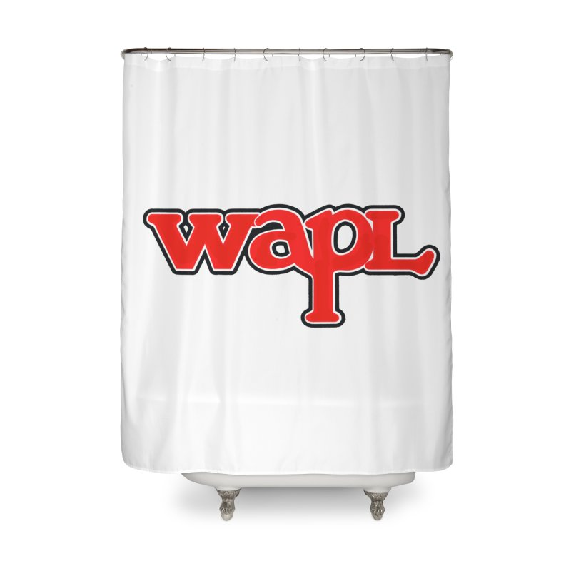 WAPL 80s [Call Letters Only] Home Shower Curtain by 105.7 WAPL Web Store