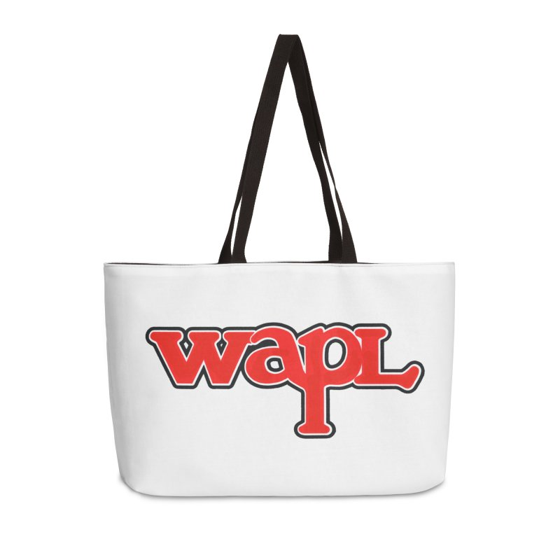 WAPL 80s [Call Letters Only] Accessories Weekender Bag Bag by 105.7 WAPL Web Store