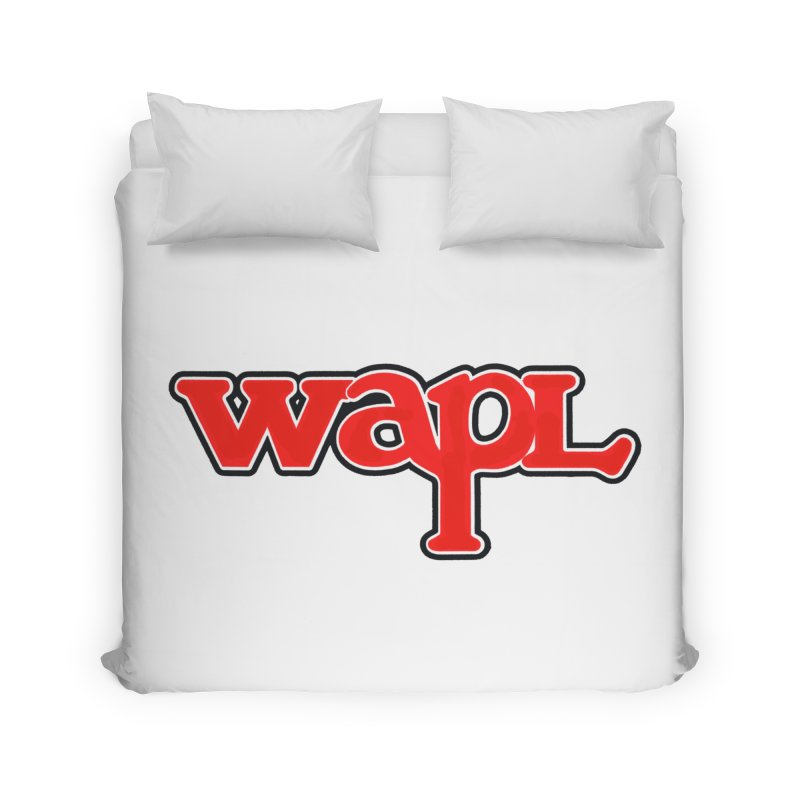 WAPL 80s [Call Letters Only] Home Duvet by 105.7 WAPL Store