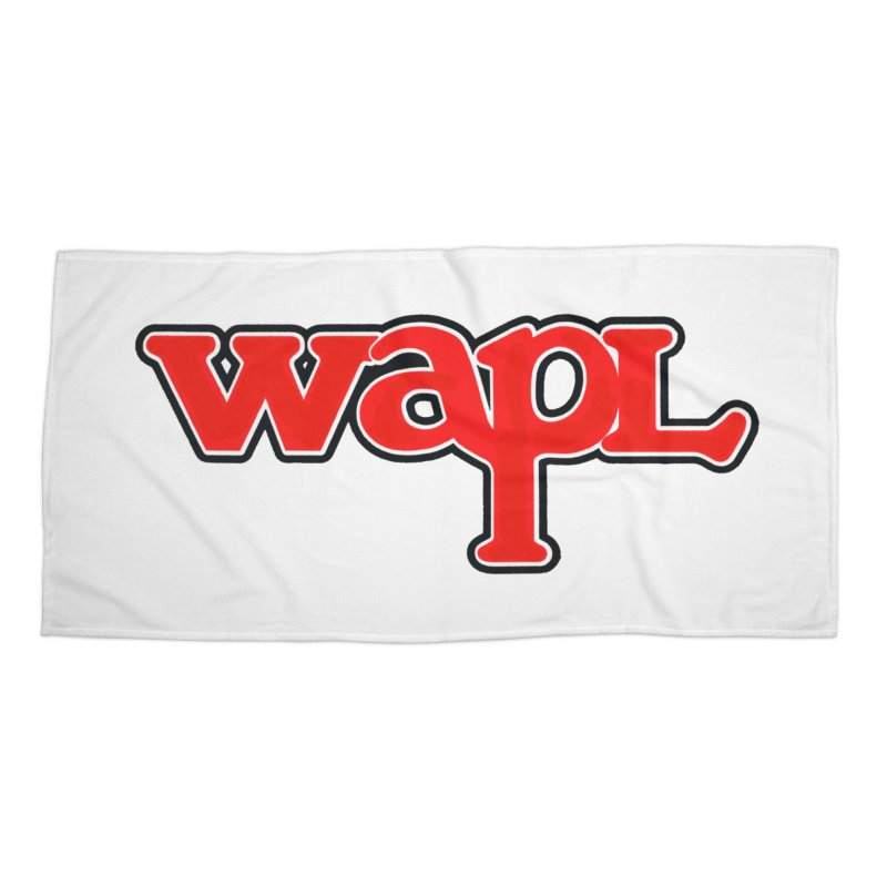 WAPL 80s [Call Letters Only] Accessories Beach Towel by 105.7 WAPL Web Store